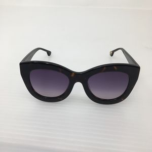 Alice + Olivia Tortoise Madison Cateye Sunglasses
